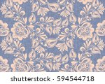 traditional russian style... | Shutterstock .eps vector #594544718