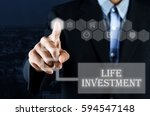 business man pointing hand on... | Shutterstock . vector #594547148