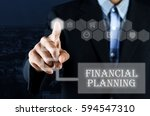 business man pointing hand on... | Shutterstock . vector #594547310