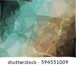 abstract multicolor mosaic... | Shutterstock .eps vector #594551009