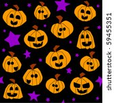 halloween seamless pattern ... | Shutterstock . vector #59455351