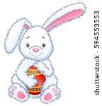 vector illustration of cartoon... | Shutterstock .eps vector #594553553