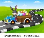 vector illustration of easter...   Shutterstock .eps vector #594553568