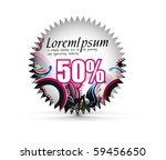 sale tag stickers with 50 ... | Shutterstock .eps vector #59456650