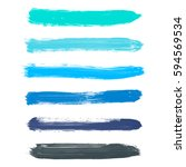 set of turquoise blue  indigo ... | Shutterstock .eps vector #594569534