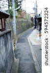 town road around kyoto  | Shutterstock . vector #594572324