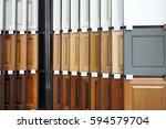 wood cabinet door samples in... | Shutterstock . vector #594579704