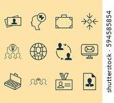 set of 12 business management... | Shutterstock . vector #594585854