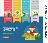 infographic farm and ranch | Shutterstock .eps vector #594589154