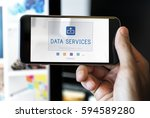digital data is an online... | Shutterstock . vector #594589280