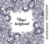 vintage delicate invitation... | Shutterstock .eps vector #594589349