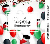 jordan happy independence day... | Shutterstock .eps vector #594593534