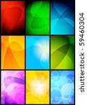 collection of 9 wavy... | Shutterstock .eps vector #59460304