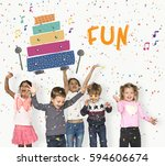 children early education... | Shutterstock . vector #594606674