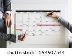 personal organizer management...   Shutterstock . vector #594607544