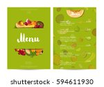 vegan cafe food menu design...   Shutterstock .eps vector #594611930