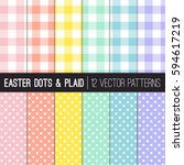 Easter Colors Gingham Plaid And ...