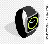 wristwatch isometric icon 3d on ... | Shutterstock .eps vector #594624908