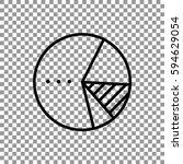 pie chart icon vector.