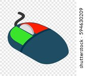 computer mouse isometric icon... | Shutterstock .eps vector #594630209