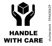 handle with care icon vector... | Shutterstock .eps vector #594630629