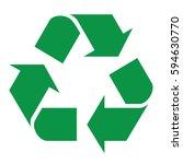 recycle logo in vector in...   Shutterstock .eps vector #594630770