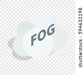 fog cloud isometric icon 3d on... | Shutterstock .eps vector #594632198