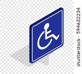 disabled handicap isometric... | Shutterstock .eps vector #594632234