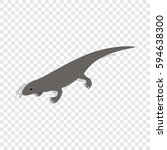 lizard isometric icon 3d on a... | Shutterstock .eps vector #594638300