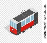 isometric tram icon. 3d... | Shutterstock .eps vector #594639836
