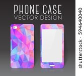 case for mobile phone with... | Shutterstock .eps vector #594640040