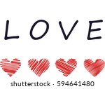 painted heart | Shutterstock . vector #594641480