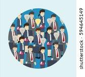 businessman gets idea  ... | Shutterstock .eps vector #594645149
