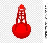 marine buoy isometric icon 3d...