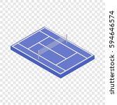 blue tennis court isometric... | Shutterstock .eps vector #594646574