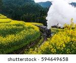 Steam Train Running Through Th...
