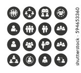 people icon set in circle... | Shutterstock .eps vector #594653360