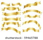 gold ribbon set | Shutterstock .eps vector #59465788