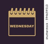 wednesday icon. wed and...