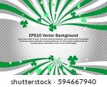 green and white swirl strips... | Shutterstock .eps vector #594667940