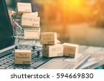 boxes of many types of... | Shutterstock . vector #594669830