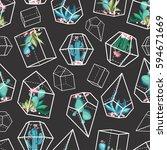 cacti flower background.... | Shutterstock .eps vector #594671669