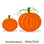 two pumpkins  big and small...   Shutterstock .eps vector #59467510