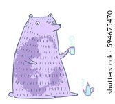 the cute adorable bear in...   Shutterstock .eps vector #594675470
