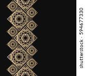 golden frame in oriental style. ... | Shutterstock .eps vector #594677330