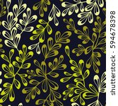 decorative seamless floral... | Shutterstock .eps vector #594678398
