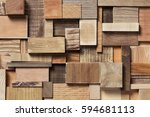natural wooden blocks in... | Shutterstock . vector #594681113