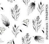 seamless watercolor pattern | Shutterstock . vector #594689924