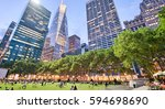 Bryant Park In Manhattan At...