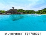sailing rock  donald duck rock  ...   Shutterstock . vector #594708314